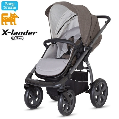 Детская коляска X-LANDER X-MOVE 2в1 (evening grey) x-pram light